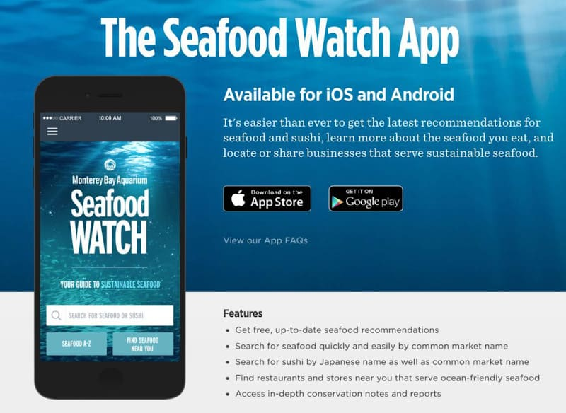 Checking your seafood is a great way to change your diet to help the planet