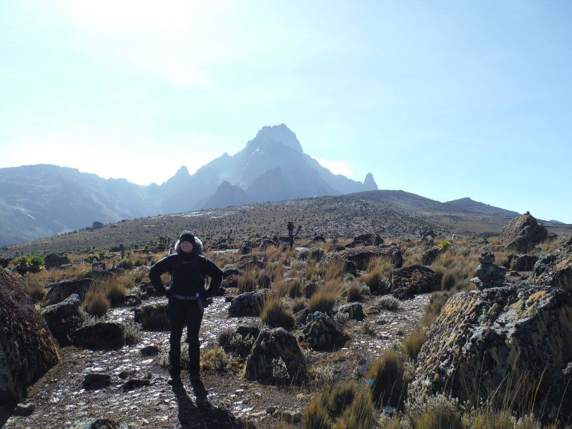 Close to the top of Mount Kenya
