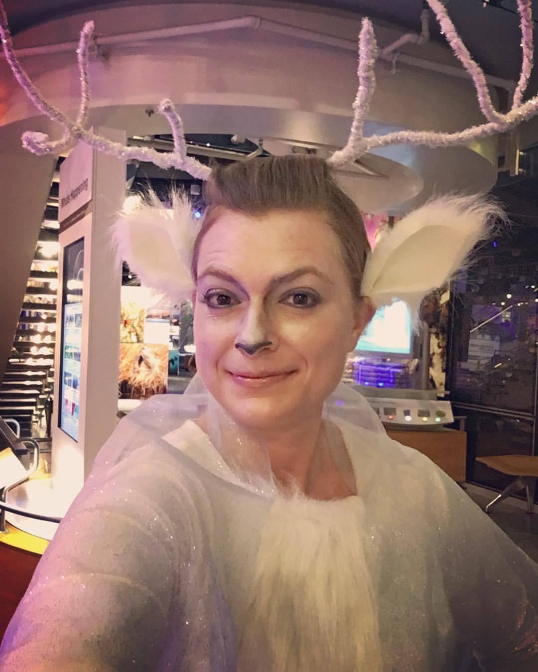 woman in deer costume