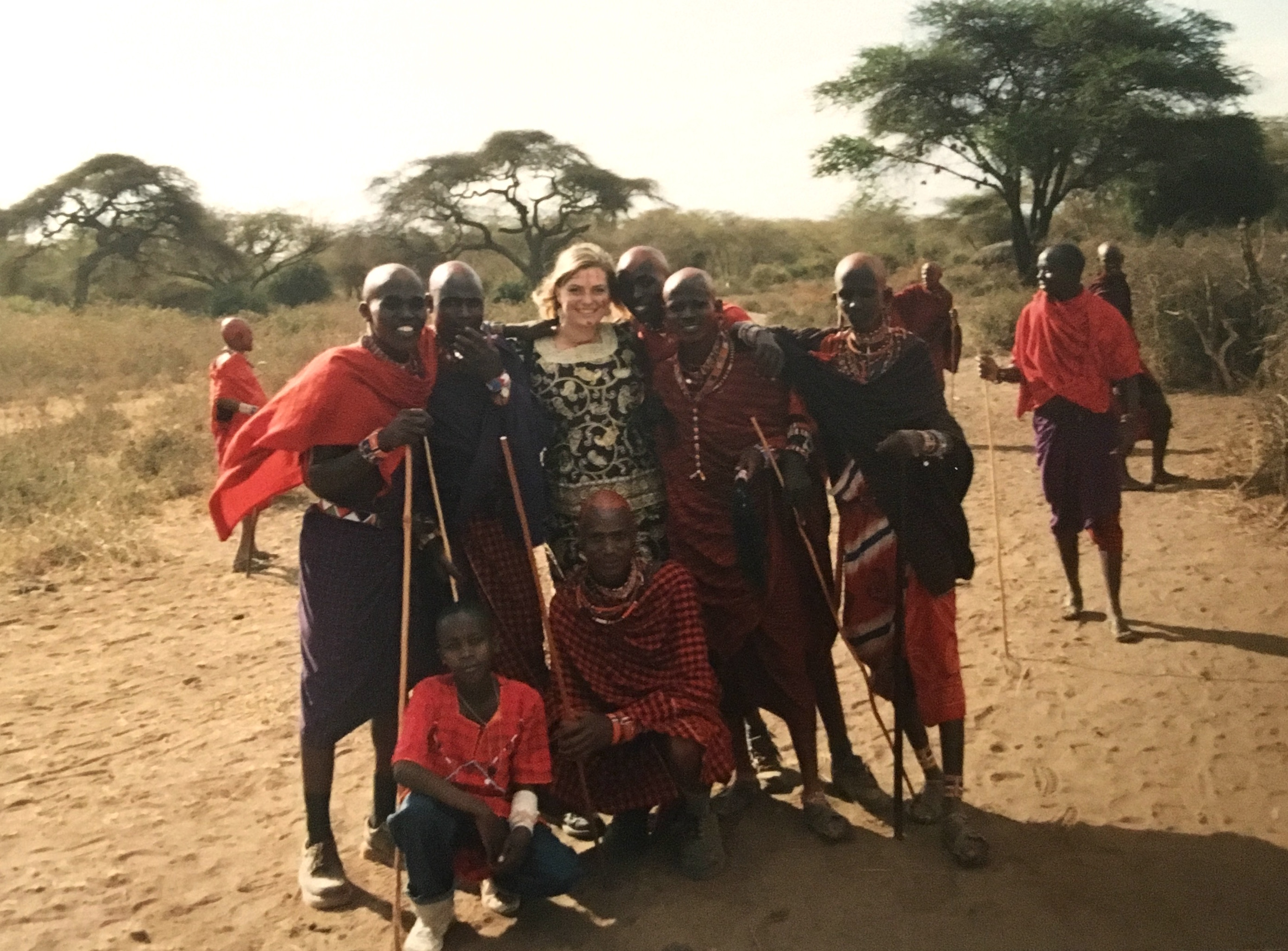 Woman in Kenya with Maasai
