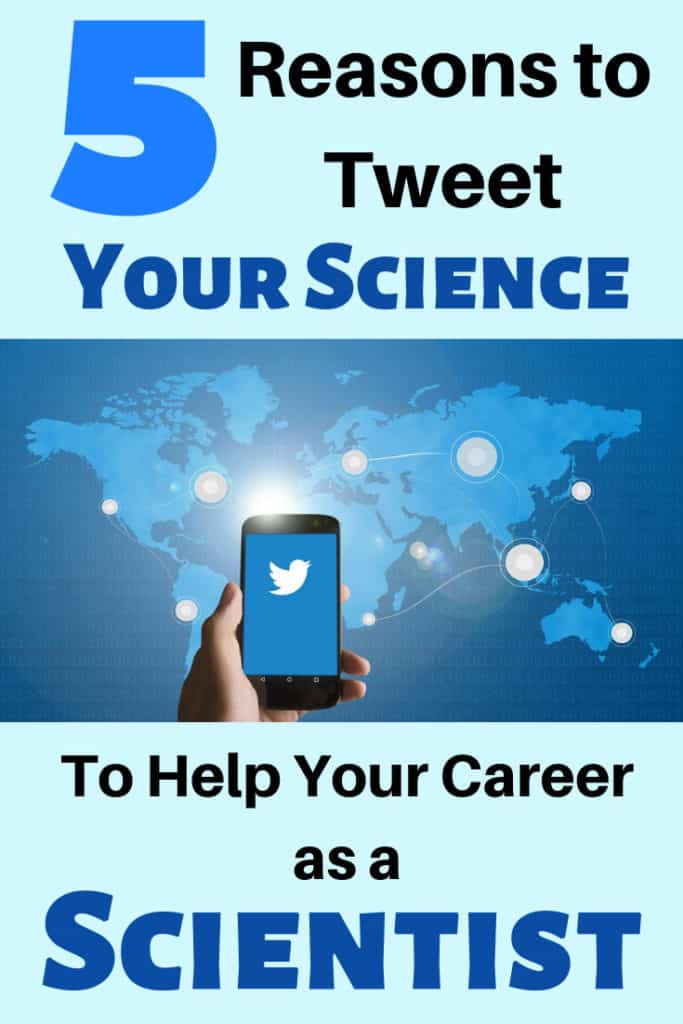 A banner indicating to tweet your science