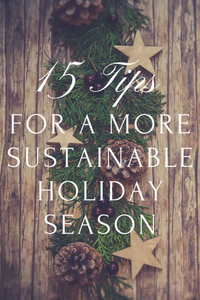 Banner for 15 tips for sustainable holiday season