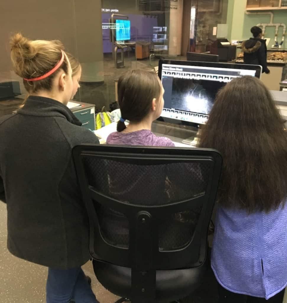 Girls in a Girls in Science Club