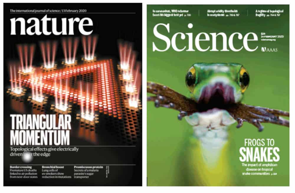 Science and nature scientific journals