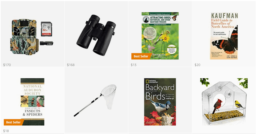 You can get supplies to connect to nature in my Amazon store.
