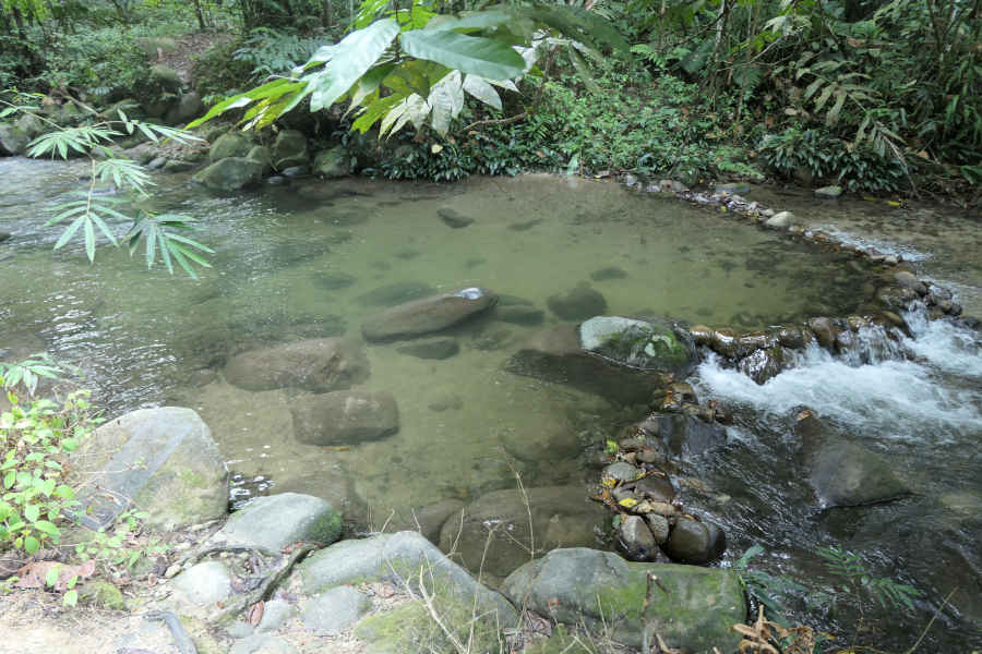 A picture of a stream basin
