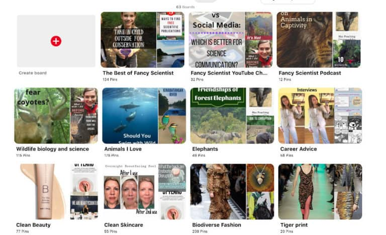 Check out my Pinterest page. I have lots of fun pins on animals, sustainability, and fashion.