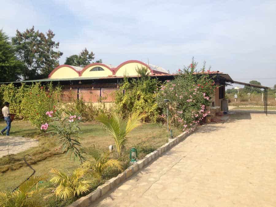 A picture of a hotel in tadoba