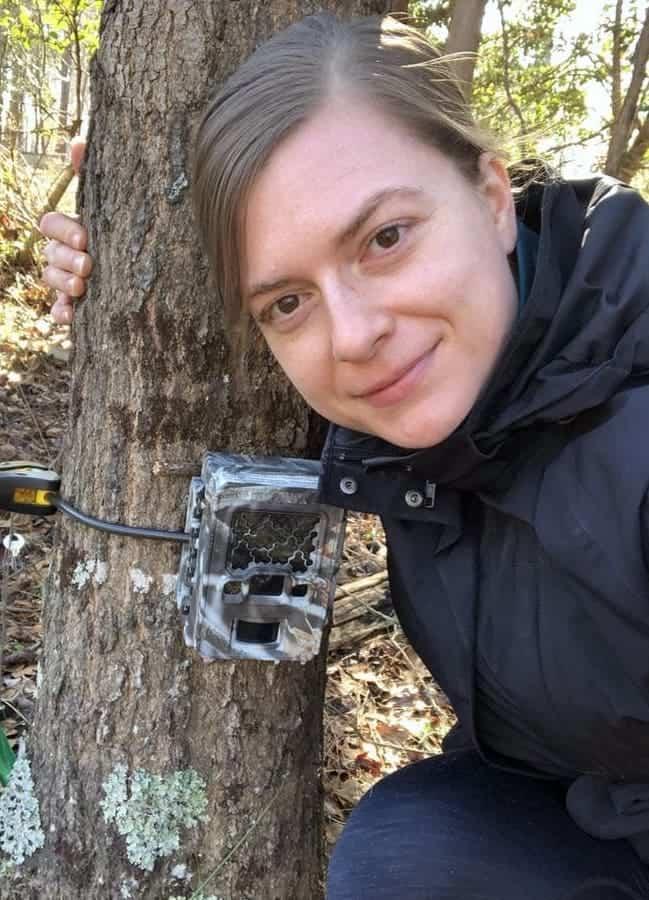 Stephanie Schuttler with Camera trap
